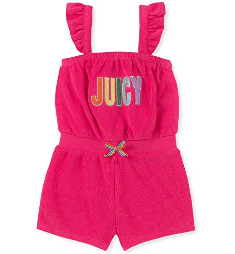 Juicy Couture Girls' Little Romper, Watermelon 6 -