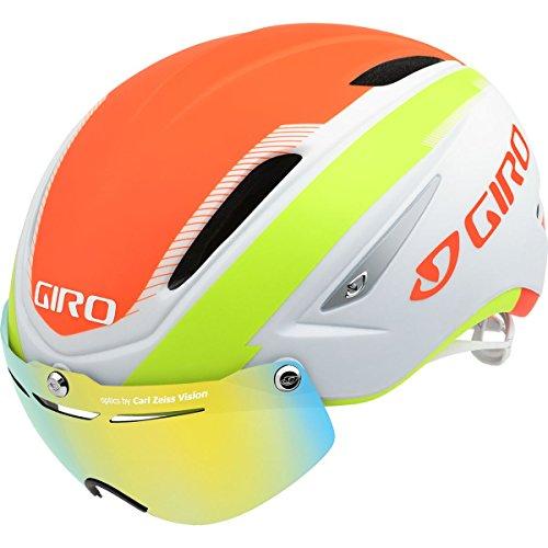 Giro Air Attack Shield Helmet-Matte White / Lime / Flame-L