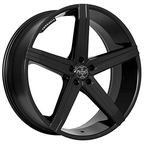 Versante VE228 - 18 Inch Rims - Set of 4 Matte Black Wheels - Made for Sports Racing Cars - Fits Challenger, Charger, Mustang, Camaro, Cadillac and More (18x8) - Rines Para Carros - Car Rim Wheel (18 Inch Racing Rims)