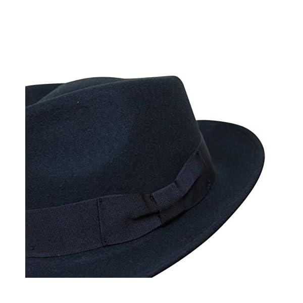 7d151965e Borges & Scott B&S Premium Doyle - Teardrop Fedora Hat - 100% Wool Felt -  Crushable for Travel - Water Resistant - Unisex