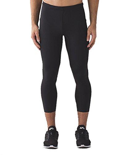 Lululemon Mens Black Tight Stuff 3/4 Tight (Pants) -Black Large by Lululemon