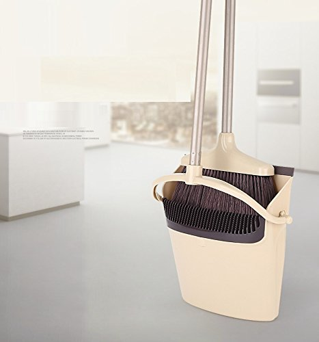 Combine Best Grips Lobby Broom Sweeper and Foldable Dustpan Set For Office or Home Use (32 inch)