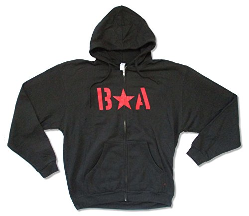 Bryan Adams Red Star Stencil Logo Black Zip Hoodie Sweatshirt (XL) (Rock Sweatshirt Zip Star)