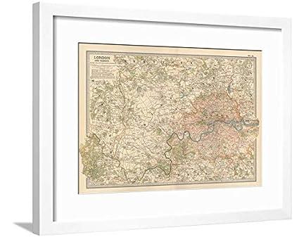 Amazon.com: ArtEdge Plate 10. Map of London and Vicinity. England ...