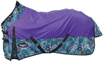 Tough 1 1200D Paisley Shimmer Turnout Sheet 72 by Tough 1