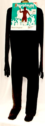 Morphsuits Black Morph Skin Suit Adult costume Large 42-44 NIP