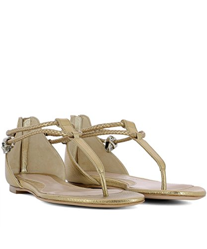 latest collections cheap online Alexander McQueen Women's 520108WHC658074 Gold Leather Sandals top quality cheap online outlet cheap authentic clearance purchase buy cheap original O1eNrDj