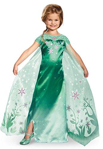 Elsa Frozen Fever Deluxe Costume, One Color, Small (Dresses Elsa Frozen)