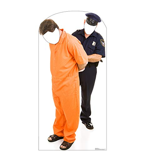 Advanced Graphics Inmate and Police Officer Stand-in Life Size Cardboard Cutout Standup -