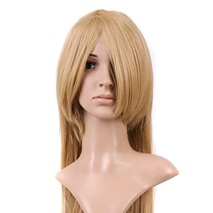 Blonde Long Length Anime Costume Cosplay Wig