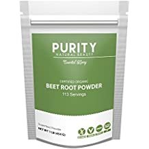 Certified Organic Beet Root Powder - Large 1 Pound Bag of Beet Powder (113 Servings), Great Tasting Beet Juice, Mix Super Beetroot Powder in Water or Morning Smoothie, Beets Supplements, Beets Powder