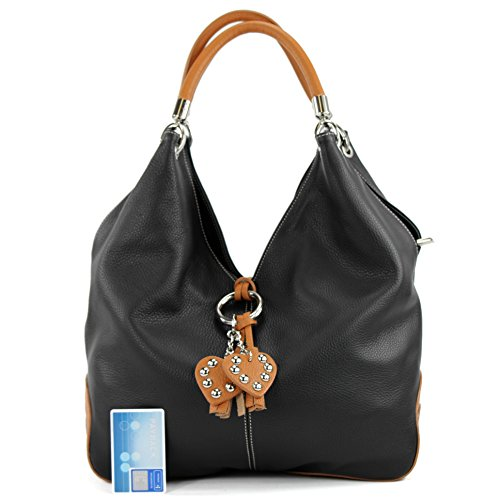 Italian 330A handbag bag bag leather Camel bag bag shoulder women's Black SrSnR8