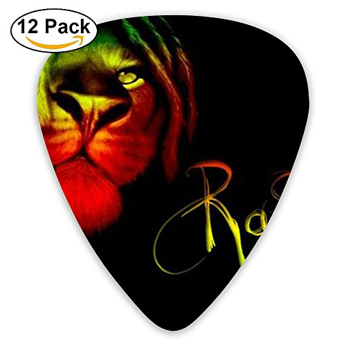 Accessories Large Rasta Lion Jazz Thin Heavy Medium Gauge Guitar Picks Unisex 12 Packs Cigar Box Guitar