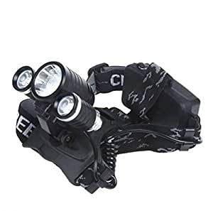 3000Lm-1*CREE-T6-&-2*CREE-R2-LED-Rechargeable-Headlamp-Headlight-AC-Charger-[H10249-]