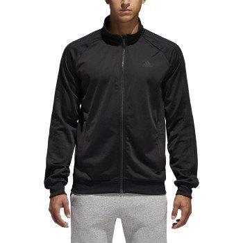 - adidas Men's Essential 3 Stripe Tricot Track Jacket - Big & Tall, Black, Medium-Tall