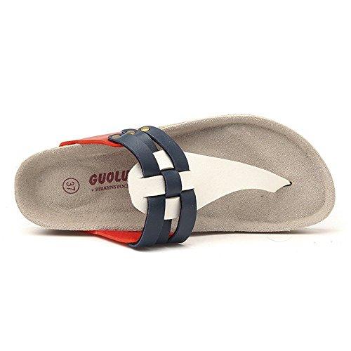 4 e sughero CN35 confortevoli 1002 CN37 da pattino Colore piatto 2 e con pantofole eleganti pantofole Donna LISABOBO Dimensioni EU37 scarpe UK3 EU36 spiaggia 5 colori informale UK4 4qwffC