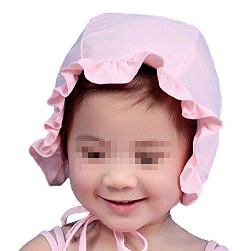 Natuworld Children Kids Baby Girls Lotus Leaf Edge Soft Nylon Fabric Swim Swimming Caps Hats New Fit for 1-7 Years