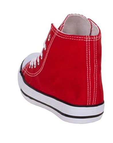 Damen Turnschuhe Schuhe Freizeit Sneakers Rot Top High 4RrF4qw