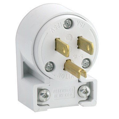 Leviton 515AN 3W Straight Blade Grounding Plug, 1-Pack, ()