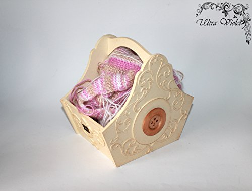 Aufbewahrungs Körbchen , Strick box , Stricknadeln , Strickfaden , Aufbewahrungsbox für Stricksachen,Strick Sachen körbchen ,Knitting Basket