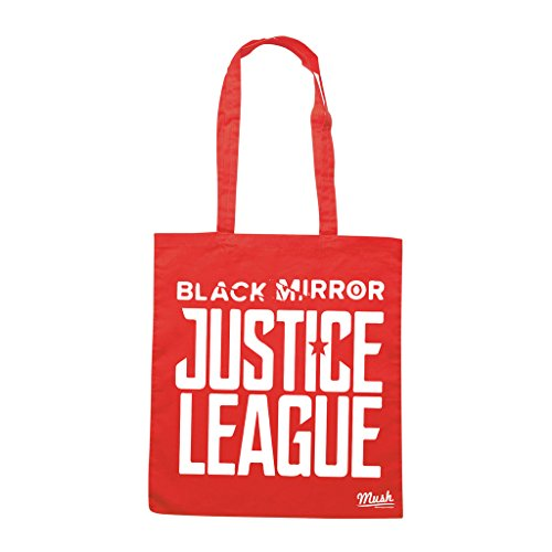 Borsa BLACK MIRROR JUSTICE LEAGUE - Rossa - FILM by Mush Dress Your Style