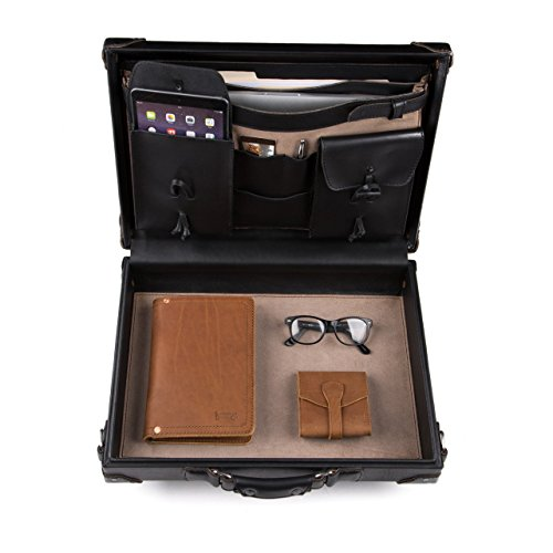 Saddleback Leather Hardside Briefcase - 100% Full Grain, Hard Shell Executive Leather Briefcase with 100 Year Warranty. ()