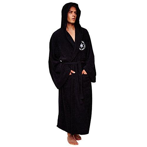 Star Wars Darth Vader Herren Luxus Bademantel schwarz 100% Polyester