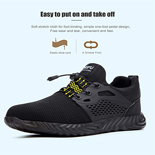 Chaussure de Securité Homme Femme Bottes Travail Chantiers Industrie Sneakers Protection Embout en Acier Basket de… 5
