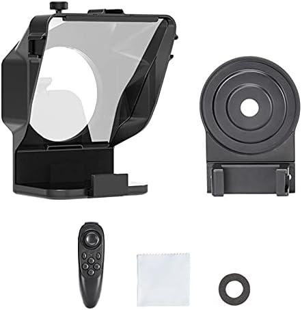 JuZi Store Teleprompter Kit portátil Inscriber, teleprompter artefacto Video con Mando, Cristal HD Beamsplitter, para Youtube Tiktok Facebook Video Transmisión en Vivo (Color : For Phone Only)