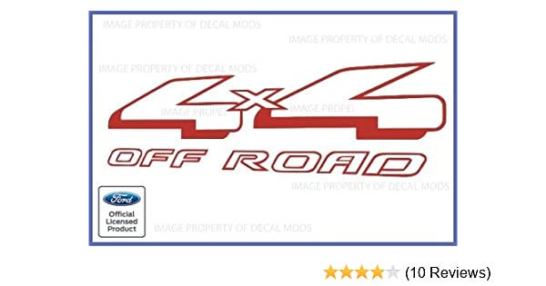 97-99 Ford 4x4 Off Road Decals Stickers truck bed red offroad gray side F