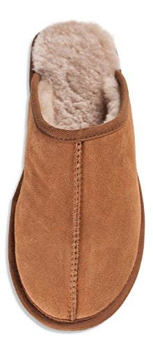 Nordvek Sheepskin Slipper Mens - Comfortable Non Slip Hard Sole # 433-100 Chestnut 9LCQ2nR9n