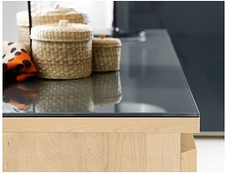 IKEA MALM Glass Top in Transparent Grey