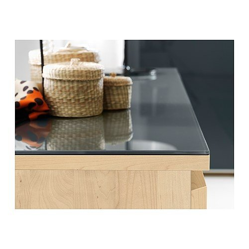 Amazon De Ikea Malm Glasplatte In Transparent Grau 160x48cm
