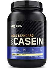 OPTIMUM NUTRITION GOLD STANDARD 100% Micellar Casein Protein Powder, Slow Digesting, Helps Keep You Full, Overnight Muscle Recovery, Creamy Vanilla, 0.91 kg