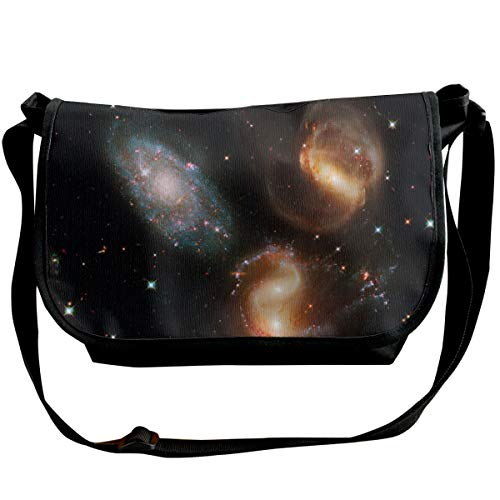 Taslilye Galaxy Universe Spirals Stars Cluster Telescope Hubble Personalized Wide Crossbody Shoulder Bag For Men And Women For Daily Work Or Travel ()