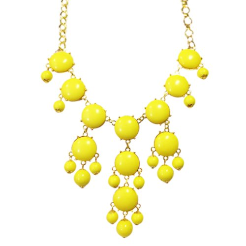Wrapables Bubble Bib Statement Necklace, Yellow]()