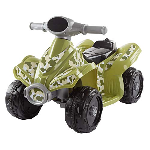 Lil' RiderRide-On Toy ATV -Battery Operated Electric 4-Wheeler for Toddlers with Included Battery Charger and Push Button Start (Green - Ride Four Wheeler