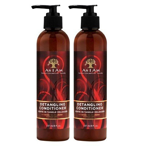 As I Am Detangling Conditioner Leave-in Tangle Releaser, 8 Ounce (2Pack) by As I Am Naturally