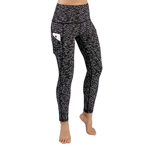 Gym Sólido Negro Leggings De Pants Running Mujeres Mid Con Mallas Pantalones Deportes Fitness Elásticos Ejercicio Yoga Ropa Color Cintura Para Bolsillo Meibax Entrenamiento Workout Gimnasio nAS0Pqwq