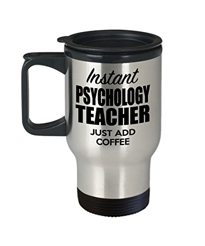 Psychology Teacher Travel Mug - Funny Psychology Teacher Gift Ideas for Birthday, Valentines Day - Insulated Stainless Steel for Men, Women - Tea, Coffee