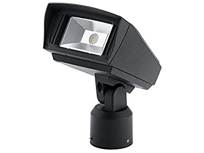 "Kichler Lighting 16221BKT40SL C-Series - 7"" 12W 4000K 1 LED Slip Fit-Mount Outdoor Small Flood Light, Textured Black Finish"