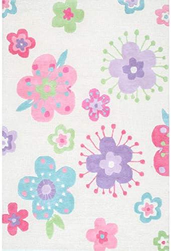 nuLOOM Floral Wool Area Rug