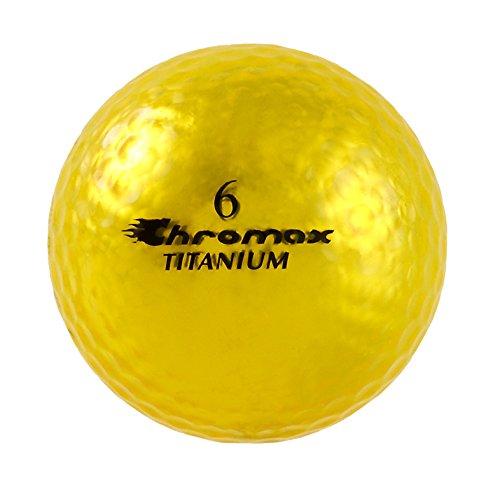 Chromax High Visibility M1x Golf Balls 6-Pack, Gold Gold Golf Ball
