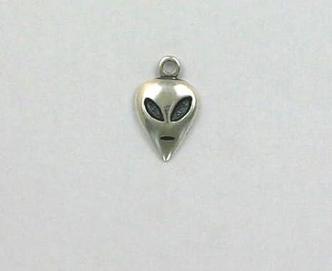 Amazon.com: Abalorio de plata de ley con diseño de cara de ...