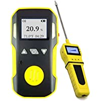 OXYGEN O2 Detector Analyzer + PUMP with Probe by FORENSICS | Professional | Water, Dust & Explosion Proof | USB Recharge…
