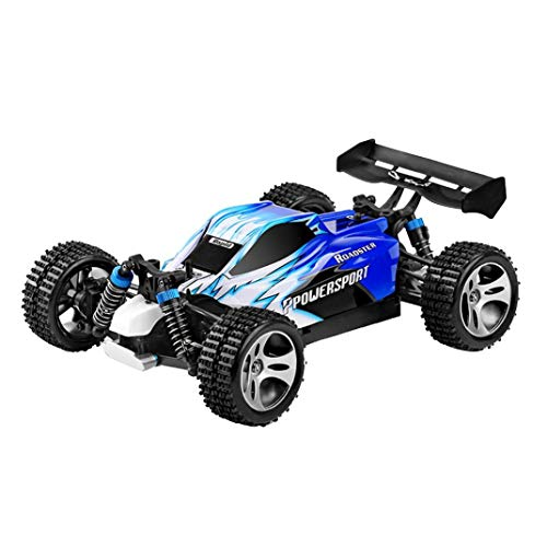 Racing Motor Brush (1:18 RC Cars, 2.4G RTR 2WD RC Cars Truck- Electric Remote Control Racing Vehicle [RC High Speed Racing Car ]- 540 Brush Motor High Speed 50km/h -Gift Toys for Kids Adults (Blue))