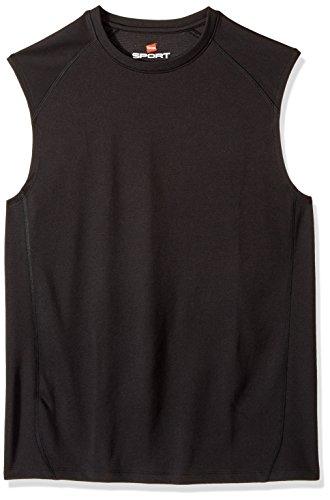 Hanes Men's Sport Performance Muscle Tee, Black, Medium