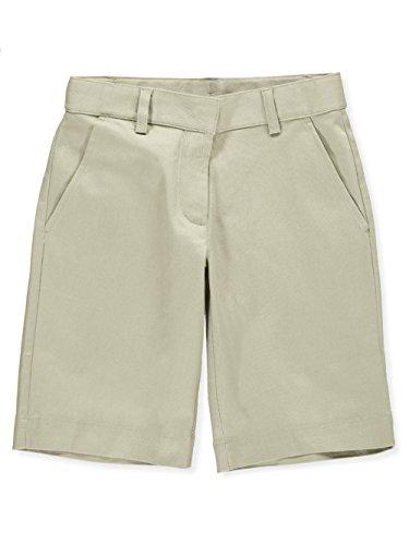 Universal School Uniform Khaki Shorts (Universal Little Girls' Flat Front Shorts - Khaki, 4)