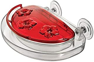 product image for Aspects Jewel Box Suction Cup Windows Hummingbird Feeder, 8-Ounce (Red)