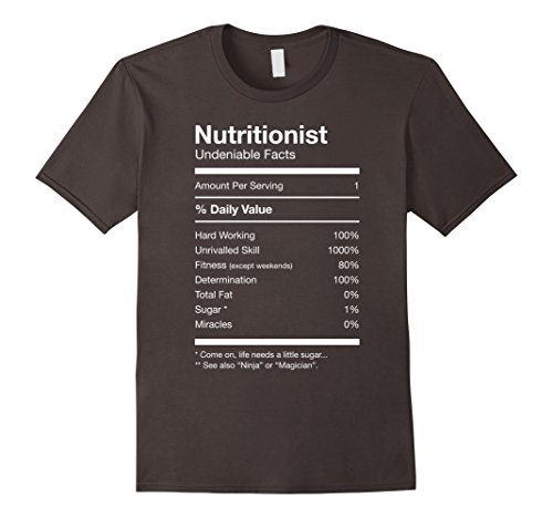 [Men's Nutritionist Nutrition Facts Funny Cute Gag T-shirt Medium Asphalt] (Doctor And Patient Couple Costume)